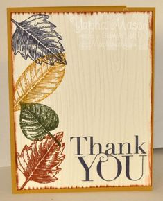 DTGD15 Autumn Thank You by Yapha - Cards and Paper Crafts at Splitcoaststampers