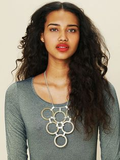Micha Design Disc Statement Necklace at Free People Clothing Boutique
