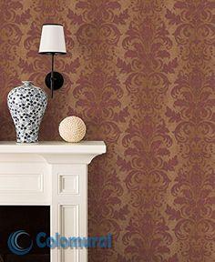 Vintage L x W Damask Roll Wallpaper Damask Wallpaper, Wallpaper Roll, Buy Wallpaper Online, Design Repeats, Classic Elegance, Really Cool Stuff, Planting Flowers, Beautiful Homes, Elegant