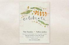 Romantic Rustic Wedding Invitations. love, just wish that orange branch was lavender...