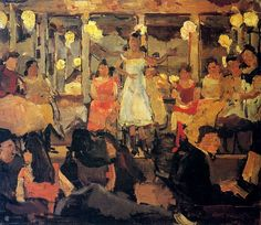 Isaac Israels (Dutch, 1865 - 1934) ~ Cafe-Chantant in a Popular Quarter in Amsterdam