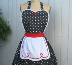 Pin Up Apron (DIY) (...but not in black)