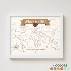 The cutest illustrations by This Paper Ship. Where I've Been: World Map (+ Color Options)