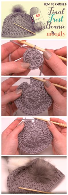 Crochet Final Frost Beanie - Free Crochet Patterns ✔