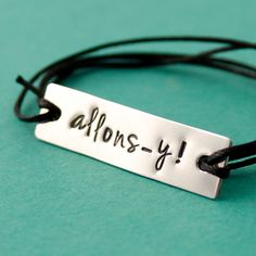 Doctor Who Allonsy Tenth Doctor Tie On Bracelet by SpiffingJewelry, $10.00
