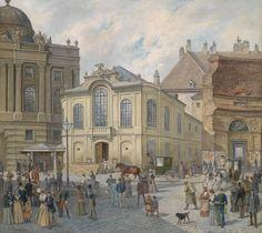 The old Burgtheater, Vienna, 19th century