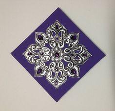 Mandala Quadrada Violeta - Liz Mágica