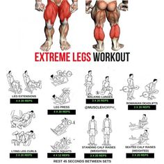 Extreme Legs Workout step by step Tutorial