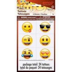 Emoji Tattoos, 24ct, Temporary Tattoos - Amazon Canada