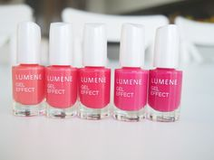 Pretty pink shades of the new Gel Effect Nail Polish by blogger Xenia. #nailpolish #lumene