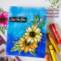 Just for you flowers - Downland Crafts Mermaid Lagoon, Craft Online, Distress Ink, Stamp Collecting, My Stamp, September, Just For You, Posts, Crafty