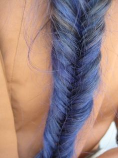 HAIR CHALK: Periwinkle // Temporary Hair Color // Chalk Pastel Dye
