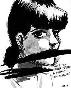 From: OFF-WORLD NEWS: OFF-WORLD NEWS DIGEST   SEPTEMBER 2012 Blade Runner Art, Sean Young, Cultura Pop, Sketches, Fan Art, World, Health Tips, September, Movie Posters