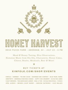 "honey harvest. Beginning to think of design ideas for invitations! This could be on the back side of the invite ""postcards""?"