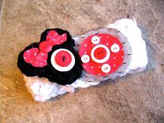 Minnie Mouse Headband with crochet minnie by EmilysPrettyThings, $14.00