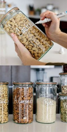 Home Decor Inspiration : 50 Stunning DIY Kitchen Storage Solutions for Small Spa. Home Decor Inspiration : 50 Stunning DIY Kitchen Storage Solutions for Small Space and Space Saving Ideas Kitchen Storage Solutions, Diy Kitchen Storage, Craft Storage, Decorating Kitchen, Decorating Ideas, Kitchen Hacks, Kitchen Organization Pantry, Diy Kitchen Ideas, Pantry Storage Containers
