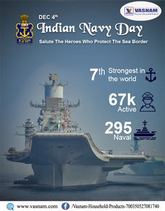 On Navy Day, we salute Indian Navy for their fearless & selfless sacrifice and are proud of our valiant Navy personnel for serving our motherland with utmost devotion. Cloth Drying Stand, Indian Navy Day, World, Laundry Rack, The World, Earth