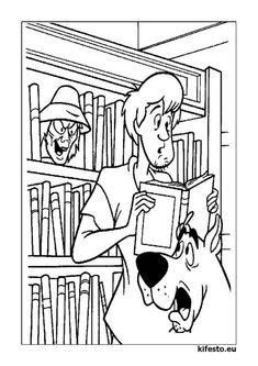Scooby Doo kifestők és színezők. Scooby Doo nyomtatható kifestők.