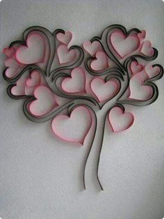 Do All Sorts of Fun with Paper Quilling and Quilling Art Trees? Arte Quilling, Origami And Quilling, Quilling Paper Craft, Toilet Paper Roll Art, Toilet Paper Roll Crafts, Diy Paper, Quilling Patterns, Quilling Designs, Paper Flowers