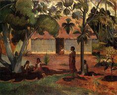 The large tree - Paul Gauguin ۞۞۞۞۞۞۞۞۞۞۞۞۞۞ Gaby-Féerie : ses bijoux à thèmes ➜ http://www.alittlemarket.com/boutique/gaby_feerie-132444.html ۞۞۞۞۞۞۞۞۞۞۞۞۞۞