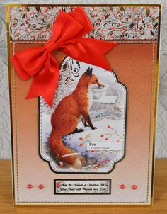 """Christmas Card (59) - A5 - makings from Hunkydory """"Winter Wildlife"""""""