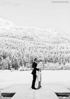 #WeddingWednesday A breathtaking #WinterWedding at Nita Lake Lodge in Whistler, BC - WedLuxe Magazine