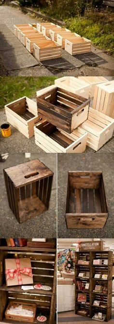Apple crates for seating???