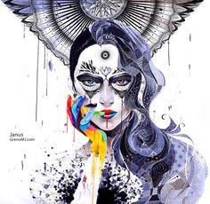 """Minja Lee, """"Janus"""" (2012) #illustration"""