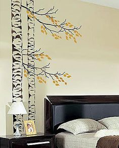 Cutting Edge Stencils - Beautiful Birches, 5 pc kit, Large Tree Stencils