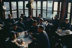 Bruno Barbey - China. Shanghai. A tea house in the gardens of Yu Yuan. 1980.