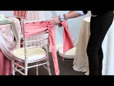 Creative Coverings Simple Sash Tying Techniques for chair covers Wedding Linens, Wedding Chairs, Diy Wedding Planner, Chair Ties, Overstuffed Chairs, Wedding Chair Decorations, Chair Covers, Event Decor, Tablescapes