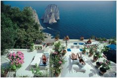 Sunbathers at Il Canille, Capri, Italy (La Dolce Vita), Aarons Estate Edition | From a unique collection of landscape photography at https://www.1stdibs.com/art/photography/landscape-photography/