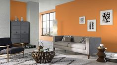 I created this Global Eclectic living room using Design By What Matters by Benjamin Moore. What's your design personality? #BenjaminMoore #DBWM