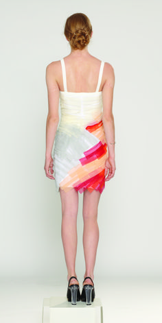 @Daniel Silverstein #recycled feather cocktail dress (no actual feathers) #fashion #beauty