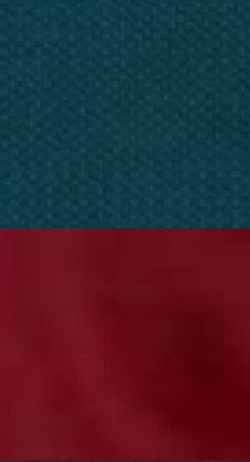 teal, burgundy vibrating boundaries as if there is something moving between these to fabrics or colors