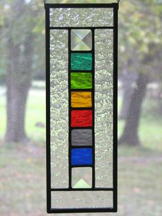 Items similar to Stained Glass Rainbow Spectrum Suncatcher on Etsy Stained Glass Studio, Stained Glass Light, Stained Glass Suncatchers, Stained Glass Designs, Stained Glass Panels, Stained Glass Projects, Stained Glass Patterns, Leaded Glass, Mosaic Glass