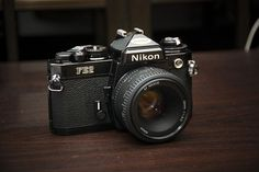 Got my sister-in-law's fixed this week and fitted it with the nifty fifty . gotta love the strange mix of metal and plastic :) Nikon Film Camera, Fuji Camera, Camera Gear, Nikon Cameras, Antique Cameras, Old Cameras, Vintage Cameras, Classic Photography, Photography Camera