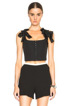 Image 1 of Red Valentino Corset Top in Black