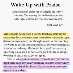 Wake up with Praise