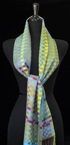 Handwoven scarf by Kala Exworthy. photo by Aimee Radman