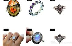 30 PCE Natural Gemstone Ring Wholesale Lot Rings 925 Sterling Silver Ring Lot_L01 - Moroccan Decor Store Silver Rings With Stones, Sterling Silver Rings, Peridot, Amethyst, Handmade Rings, Moroccan Decor, Natural Gemstones, Gemstone Rings, Purple