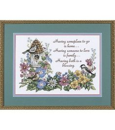 Dimensions Stamped Cross Stitch Kit Flowery VerseDimensions Stamped Cross Stitch Kit Flowery Verse,