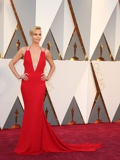 88th Academy Awards Red Carpet extravaganza and glamour - OSCARS 2016 fashion style - Charlize Theron in Dior