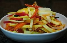 Food Hunter's Guide to Cuisine: Veggie Slaw: Healthy Game Day Side Dish