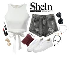 """""""Shein"""" by kmeowj ❤ liked on Polyvore featuring Topshop, Urban Decay and MAC Cosmetics"""