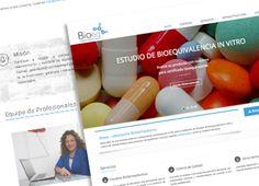 Diseño Web de la página bioeq.cl, laboratorio de bioequivalencias ubicado en Viña del mar. Bioeq.cl Web page , bioequivalence laboratory located in Viña del Mar Design .