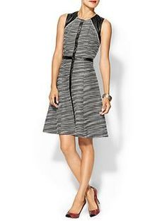 Calvin Klein Dress With Vegan Leather Insets | Piperlime Pretty cool looking dress, I think my brand would wear this