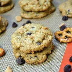 Pretzel, Peanut Butter, Chocolate Chip Cookies