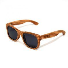 aed0f973e8 Vancouver Zebrawood Wayfarer Style Wood Sunglasses Wooden Sunglasses