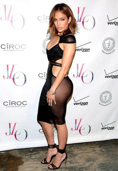 Jennifer Lopez went out to party in New York City over the weekend to celebrate her birthday. She showed off her sexy body in a see through dress and she looked just as hot as she did twenty years ago. Jennifer Lopez Feet, Jennifer Lopez Photos, Jennifer Lawrence, See Through Dress, Mode Chic, Halle Berry, Celebs, Celebrities, Sheer Dress